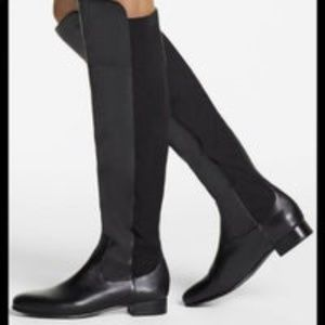 Louise Et Cie Andora Black Leather Knee Boot Sz 5